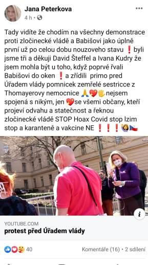 Jana Peterková a HATE na premiéra ČR Babiše 4