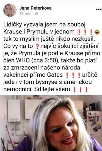 Jana Peterková a HATE na vládu 1