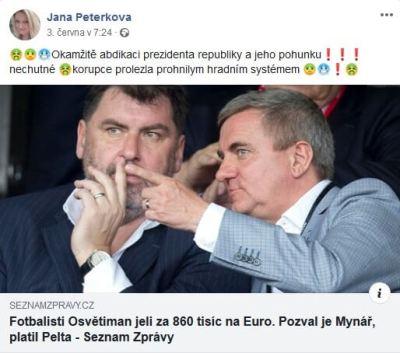 Jana Peterková a HATE na vládu 5