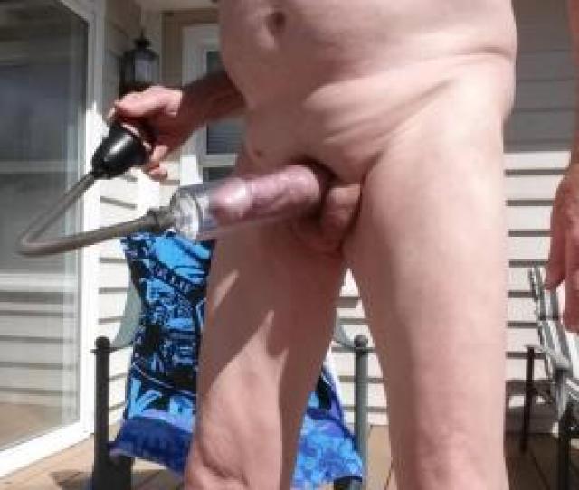 Using Penis Pump Outside