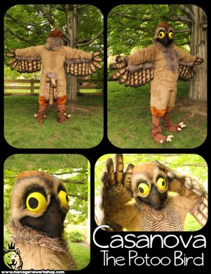Casanova the Potoo Bird by SarahDee    Fur Affinity  dot  net
