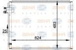 Chłodnica klimatyzacji - skraplacz HELLA (8FC351036-761)