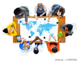 Group of Business People Discussing World Issues 11895982