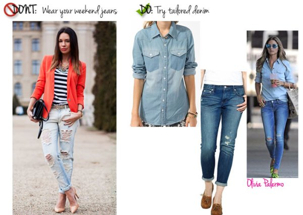 What Not to Wear to Work Office fashion dos and donts