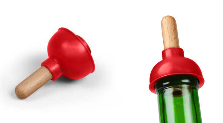 Fred and Friends PLUNGE Wine Bottle Stopper