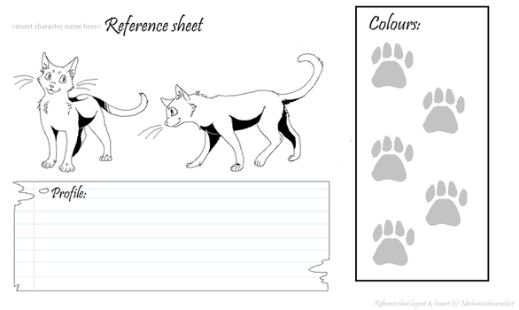 Warrior Cat Reference Sheet Template