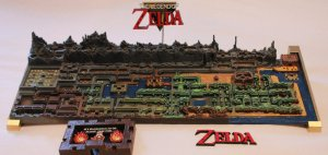 Zelda 3D Printed Hyrule Map