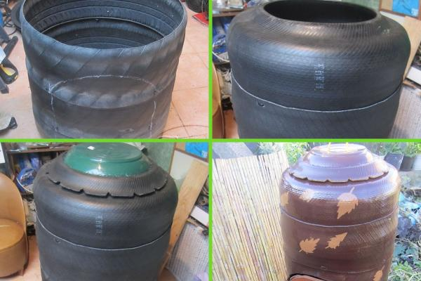 How to make a homemade composter - Homemade compost made with tires
