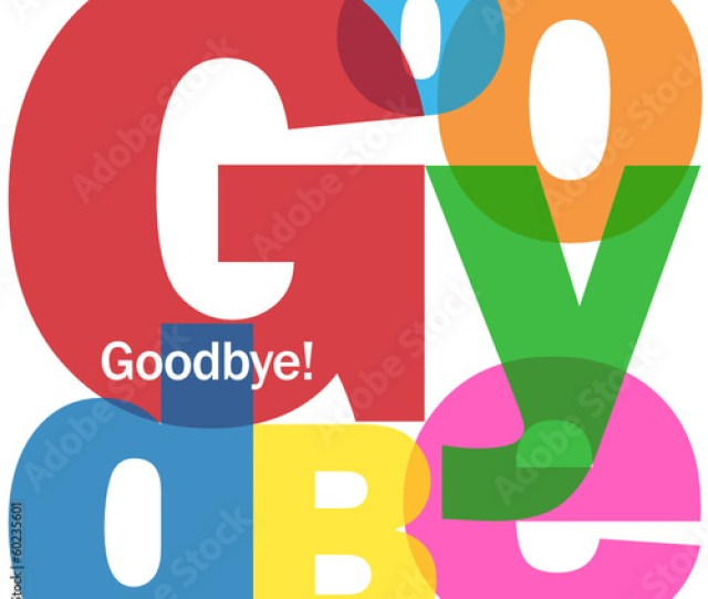 Goodbye Letter Collage Farewell Card Good Luck Travel