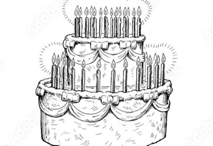 Birthday Cake Sketch Buy Photos Ap Images Detailview