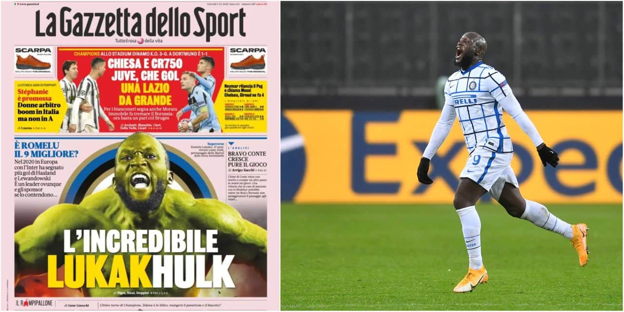 The Incredible Lukakhulk The Front Page Of The Gazzetta Dello Sport Dedicated To Lukaku Will Make People Talk France24 News English