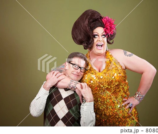Large Woman Holding Nerd