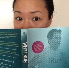 Day 25: Thank you for the nomination Anne Marie. A no make-up, no filter selfie with my current read Why I run by Mark Sutcliffe. Ottawa Marathon here I come!