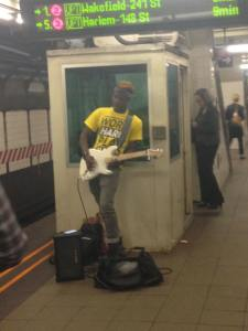 subway performer