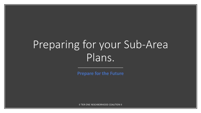 Preparing for your Sub-Area Plans (06-09-2018)