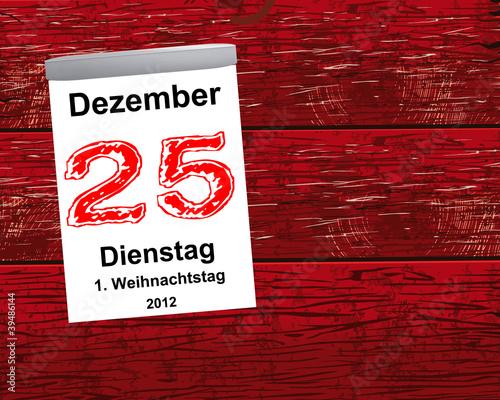 Kalender Holz - 25.12.2012 - 1. Weihnachtstag
