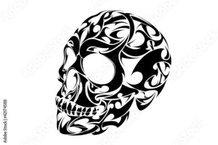 ... Tribal Skull Drawing at GetDrawings com Free for personal use x Tribal Skull Drawings Viewing Riroku X s profile Profiles v Cool Tribal Skull Tattoos ...
