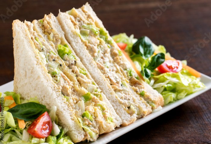 White Bread Chicken And Mayonnaise Sandwich Buy Photos Ap