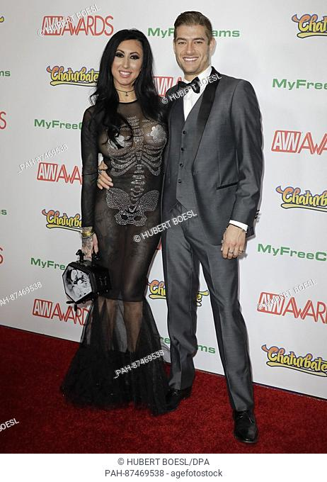 Adult Film Actors Lily Lane And Xander Corvus Attend The Adult Video News Awards Avn