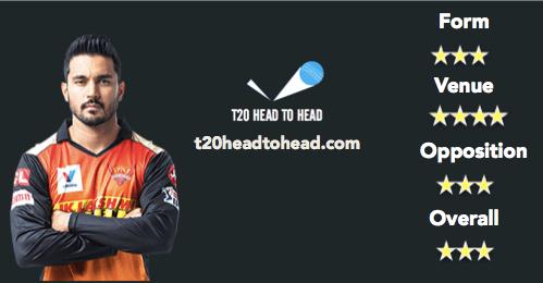 Manish Pandey - Dream11 predictions SRH vs KKR