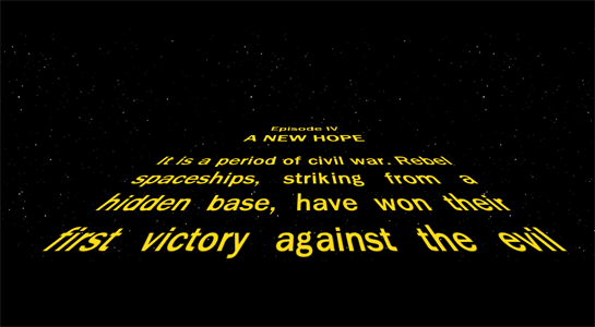 May the Force be with your Demo (opener) Star Wars Opening Crawl