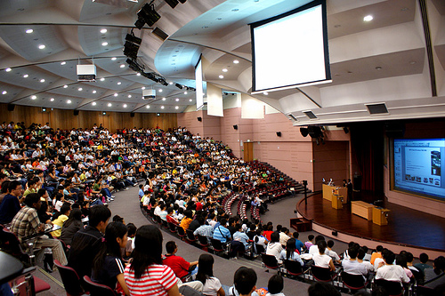 Image result for images of college students in large lecture hall