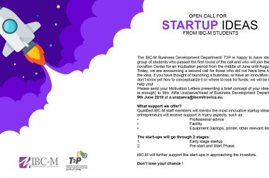 Re-launch of Start-Up Call for IBC-M Students