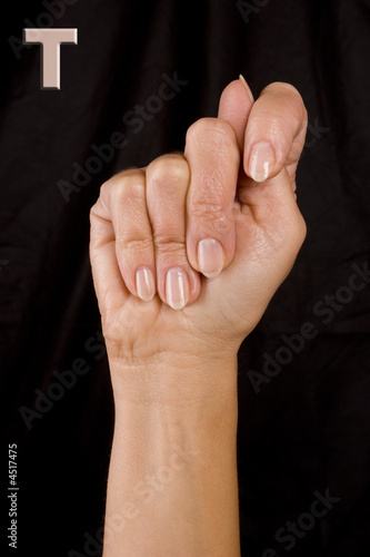letter t in sign language  Stock photo and royalty free images on     letter t in sign language