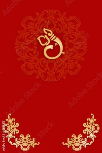 Greetings Invitation Card With Ganesha India
