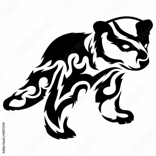 Tribal Bear Cub Vector Tattoo Fichier Vectoriel Libre