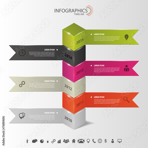 Modern infographics  Timeline template vector  Stock image and     Timeline template vector