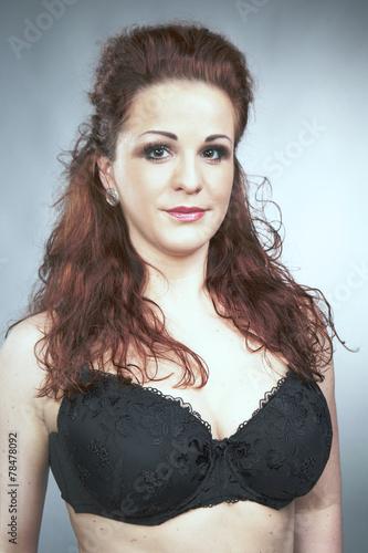 Pretty Busty Redhead Model In Bra