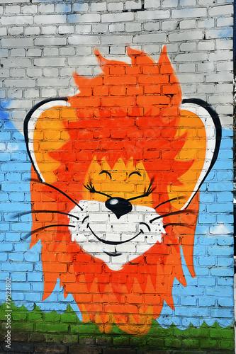 Рисунки На Кирпичной Стене Фото