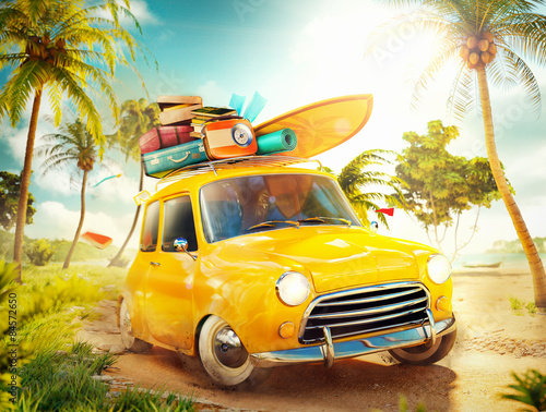 summer travel illustration