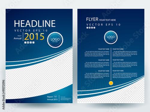 Abstract Vector Modern Flyer Design Brochure Design