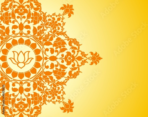 Water Lily Wedding Card Design Royal India Stock Image And