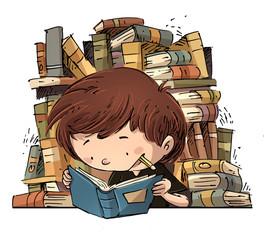 Resultat d'imatges de niña durmiendo libros