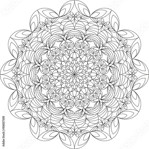 Mandala Vorlage Malbuch Fr Erwachsene Meditationshilfe