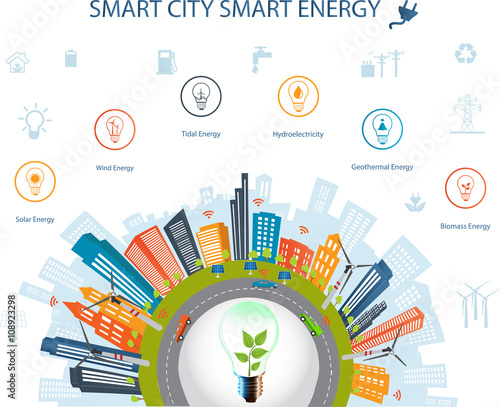 Ecological City ConceptSmart City Concept And Smart