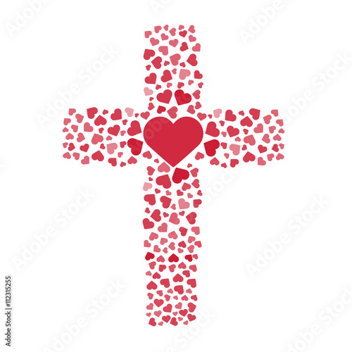 "Download ""Jesus true love. Cross. Heart. Love. Vector illustration ..."