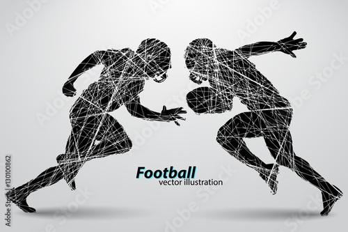 Football Tackle Black Silhouettes