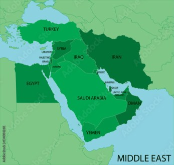 Middle East Map   Green  Stock image and royalty free vector files     Middle East Map   Green