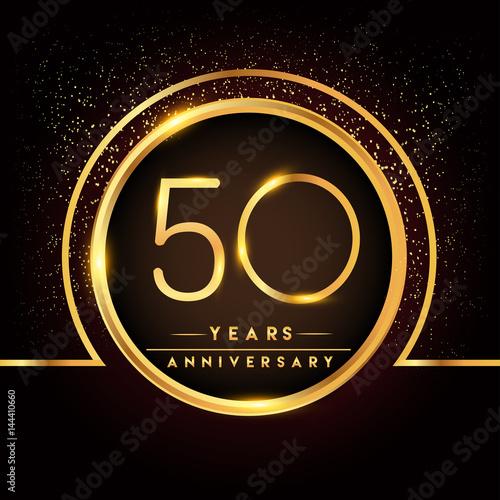 """fifty years birthday celebration logotype. 50th ..."