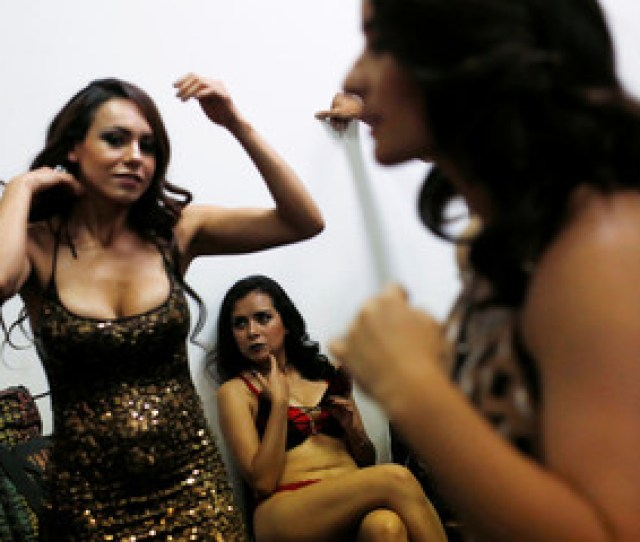 A Porn Actress Sits Backstage During A News Conference To Promote The Expo Sex And