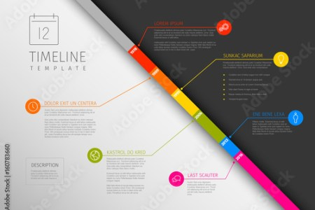 Infographic diagonal timeline template  Stock image and royalty free     Infographic diagonal timeline template