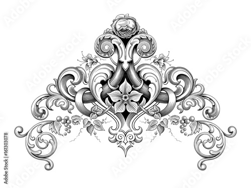 Vintage Tattoo Filigree