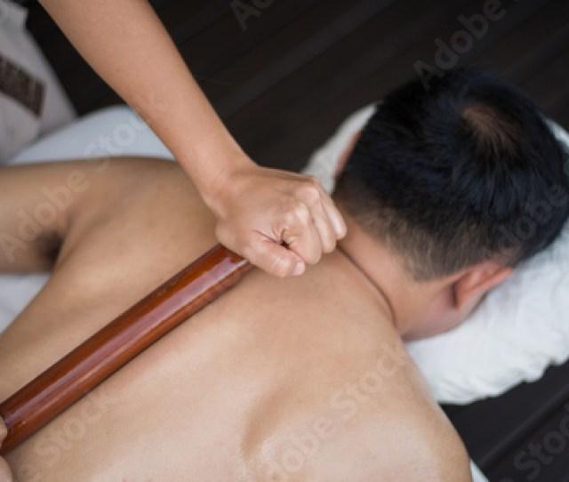 Asian Man Getting Massage