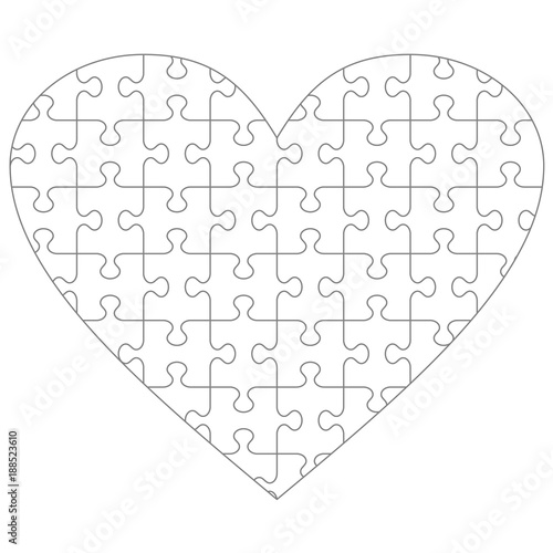 heart shaped puzzle pieces template