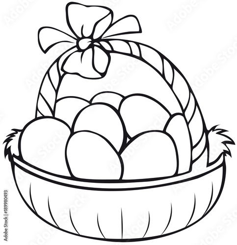 basket coloring page # 11