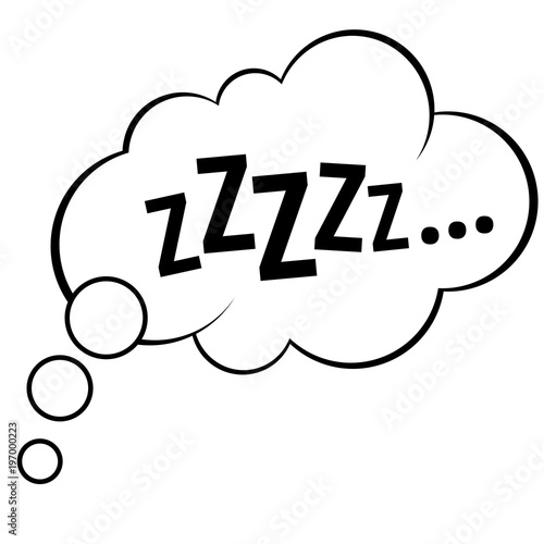 Sleep Comic Bubble Zzz Vector Illustration Fichier